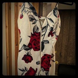 Zip up floral dress